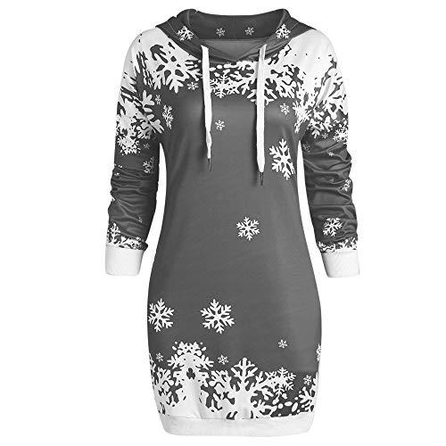 Innerternet Damen Hoodie Weihnachtspullover Druck Langarm T-Shirt Lose Bluse Hemd Pullover Oversize Sweatshirt Oberteil Tops