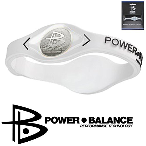 Power Balance Pulsera de silicona blanca S Deporte Pro Ion Uni IWSA09 GWSA09