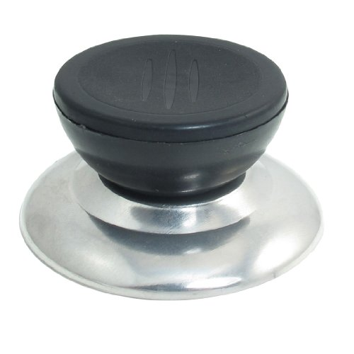 Black Silver Tone Plastic Metal Cookware Pot Pan Skillet Lid Replacement Knob