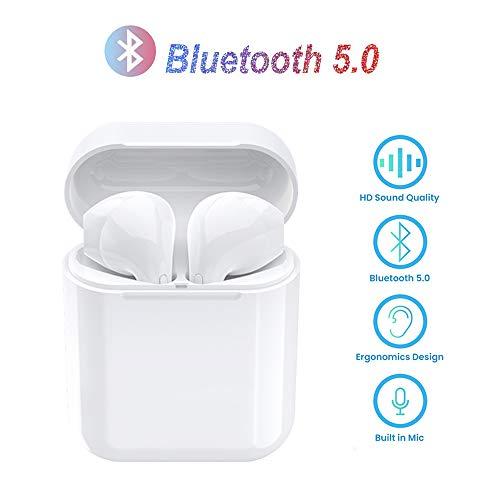 DANTONGSHANGMAO Écouteurs Sans Fil Bluetooth 5.0 - Casque Audio Intra-auriculaires de Dernière Génération Son Stéréo Haute Fidélité,Réduction du Bruit Physique, pour Samsung Galaxy Huawei Xiaomi