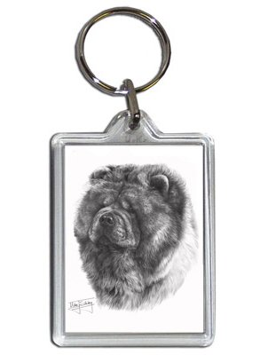 mike-sibley-chow-chow-dog-keyring