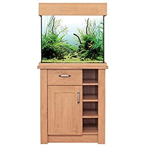 Oak Aquarium Fish Tanks Oak Style & Oak Shades (63cm / 110L, Oak Style)