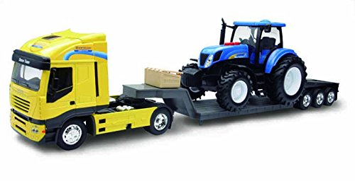 Newray 01693 - battery operated scala 1:32, iveco scala 1:24 newholland t7070 try me
