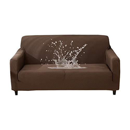 HOTNIU Wasserdichtes Stretch Sofa Schonbezug – 1-Piece Dehnbarer Stoff Couch Cover – Beflockt Muster Ausgestattet Couch Schonbezug