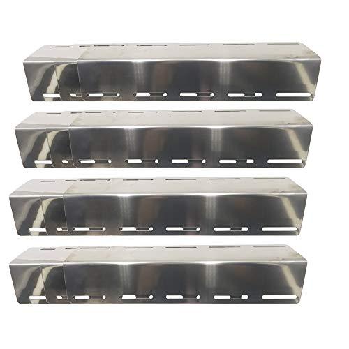 Attachcooking 45629 - Rejilla Universal de Acero Inoxidable con Placa de Calor Ajustable para la mayoría de Parrillas de Gas, se extiende de 30 cm a 72 cm de Largo (Paquete de 4)