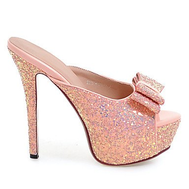 LvYuan Da donna-Sandali-Matrimonio Formale Serata e festa-Club Shoes-A stiletto-Materiali personalizzati-Nero Rosa Bianco Argento Dorato Silver