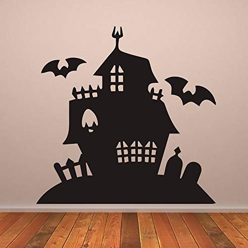 wandaufkleber 3d Haunted House Gruselige Villa Halloween Decals Wohnzimmer Kinderzimmer