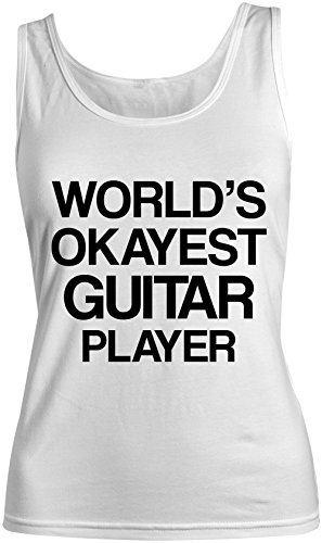 World's Okayest Guitar Player Femme Tank Top Debardeur Blanc
