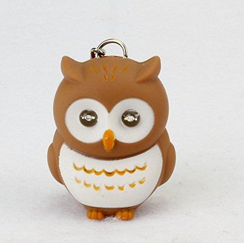 sche Tasche Anhänger LED Sound Glowing Schlüssel Kette, plastik, braun ()