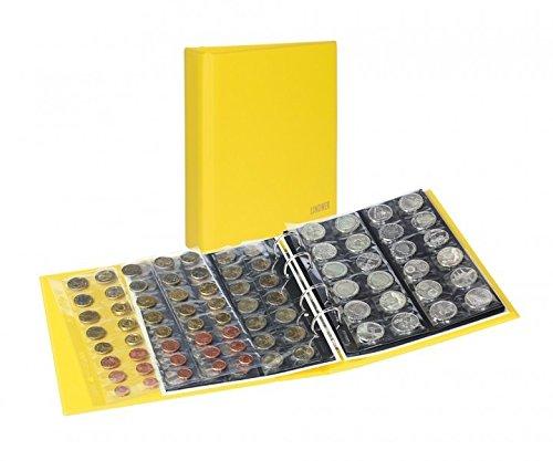 Album numismatique PUBLICA M COLOR [Lindner S3540M], Avec 10 feuilles numismatiques - Couleur: Solino (jaune)