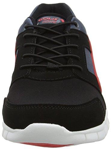 Gola Santo Toggle, Scarpe Sportive Outdoor Bambino Nero (Black/grey/red)