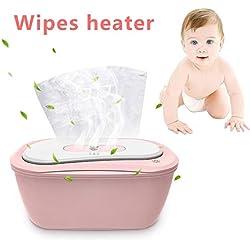 Dispensador de toallitas para bebés de Carga portátil Calentador de toallitas de Viaje para niños y Caja de toallitas húmedas para bebés con luz cambiante incorporada para Mantenerse Siempre húmedo