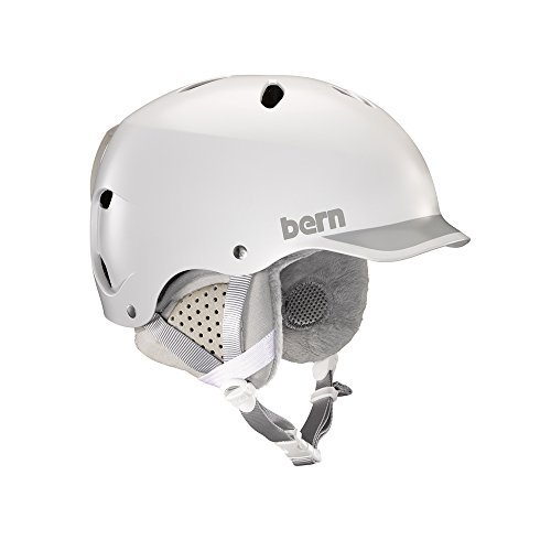 Bern Damen Helm Lenox Winter Schnee M Satin White Grey Trim