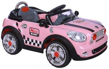 AUTO ELETTRICA MINI BABY CAR ROSA BAMBINO CON RADIOCOMANDO MARIO SCHIANO