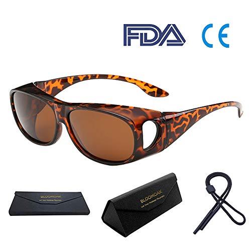 Bloomoak Wear über Brille - für Frauen / Über Brille / Fahren / Blendschutz / UV 400 Schutz / Computing ( Tortoise Rahmen)