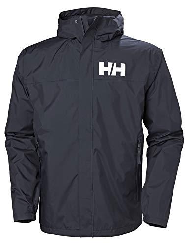 Helly Hansen Active 2 Chaqueta Impermeable con Capucha, Hombre, Navy, L
