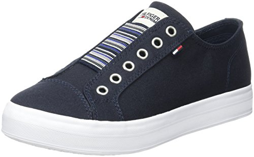 Tommy Hilfiger N1385ice 2d2, Sneakers Basses Femme Bleu (Midnight 403)