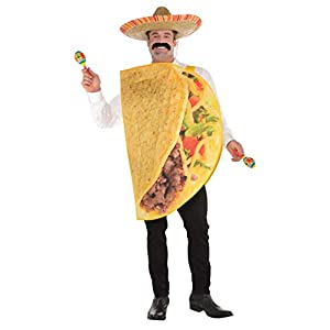 Amscan 8400080-55 Adult Taco Costume Size XXL, multicoloured