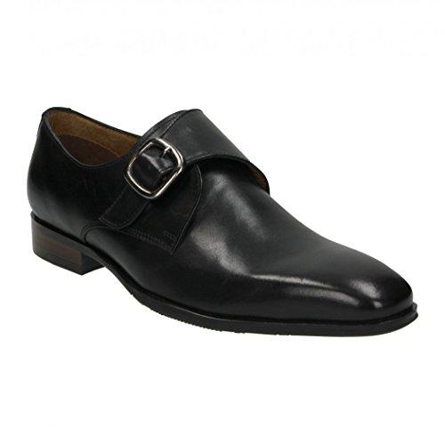 Cafe Moda Herren Business Schuh aus Leder mit einer Schnalle Schwarz