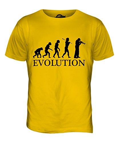 CandyMix Kornett Instrument Evolution Des Menschen Herren T Shirt Dunkelgelb