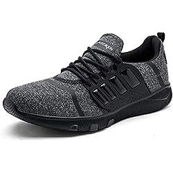 AZOOKEN Hommes Femme Chaussures de Sports Course Sneakers Fitness Gym athlétique Basket Mode Outdoor Casual(6918-BK41), Noir, 41 EU