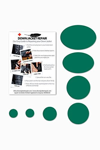 Doudoune Patch de réparation kit (Autocollant) Vert mousse