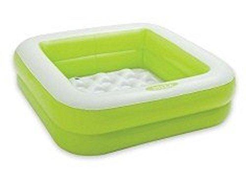 Play Box Pool 85 x 85 cm Höhe 23 cm aufblasbarer Boden Planschbecken Badespaß Schwimmbad für Kleinkinder Pool Planschbecken Kinderpool Babypool Baby Pool Schwimmingpool Kinderplanschbecken Duschwanne in grün oder rosa (grün)