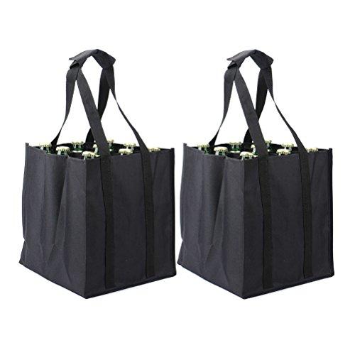 27x23x21cm Negro Bolsa para botellas