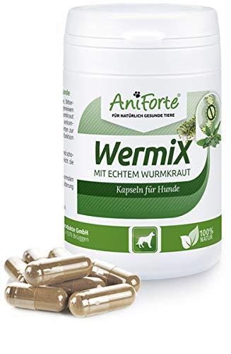 AniForte WermiX für Hunde 50 Kapseln – Natürlicher Wurmfeind, Naturprodukt Bei und Nach Wurmbefall, Natur Pur, Ohne Chemie
