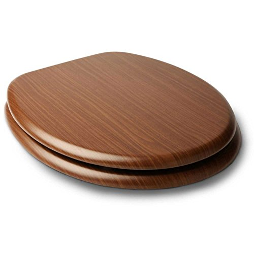Sedile copri wc, legno di noce del wc sedile wc sedile in duroplast