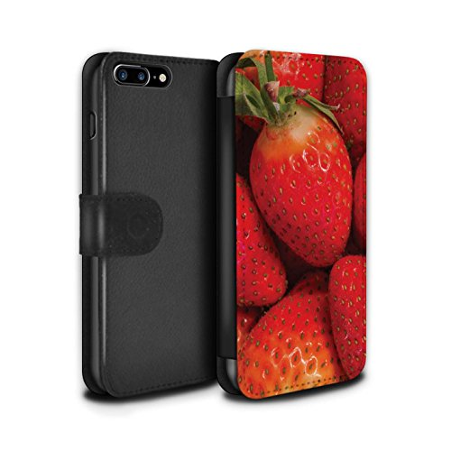 Stuff4 Coque/Etui/Housse Cuir PU Case/Cover pour Apple iPhone 7 Plus / Kiwi Design / Fruits Juteux Collection Fraise