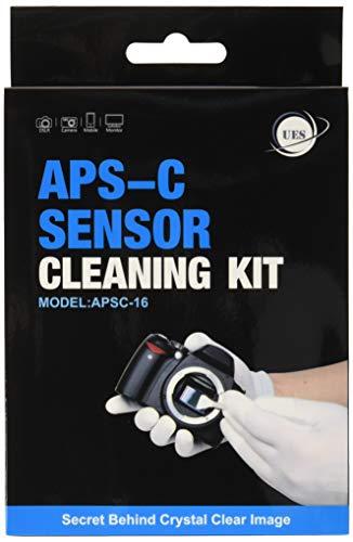 UES Kamera APS-C Sensor Reinigungs Kit für 6 bis 12 Reinigungen, 14 x Swab 16mm staubfrei, vakuumverpackt 15ml Flüssigreiniger -