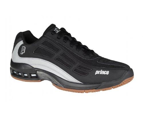 PRINCE Renegade Chaussures de Sport en Salle pour Homme, Noir/Argent, 41