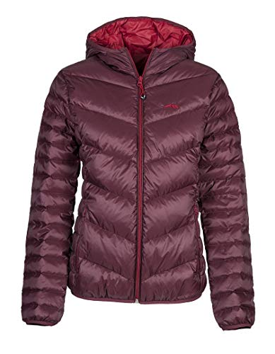Equiline Damenjacke Maudy burgundy rot Daunenjacke Winter , Größe:S