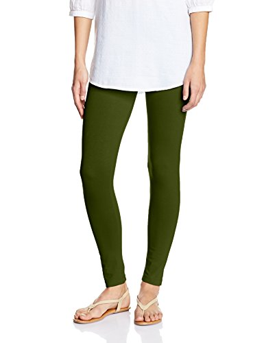 Myx Women's Cotton Stretch Leggings (AW16LEG01B_Mahanadi Green_Large)