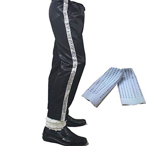 Shuanghao Erwachsene Michael Jackson Hosen in voller Größe Billie Pants Dance Pants Cosplay Jackson Costume (H:170-192CM,Taille:99-102CM) (Michael Jackson Dance Kostüm)