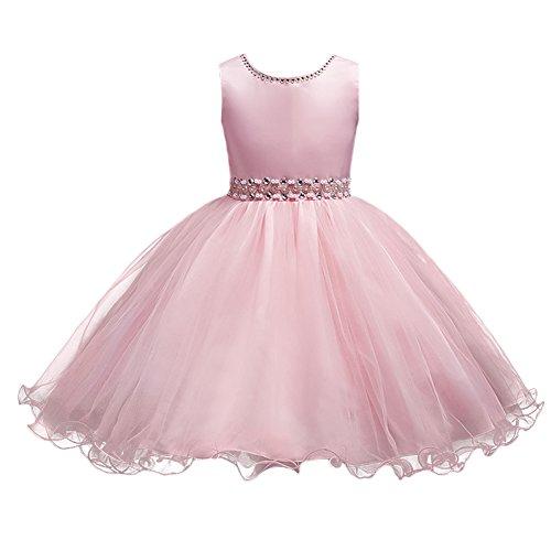 FYMNSI Kinder Baby Mädchen Kleid Prinzessin Tütü Festkleid Ärmellos Geburtstag Partykleid...