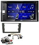 JVC KW-V250BT 2DIN CD DVD USB Bluetooth MP3 Autoradio für Audi A4 B6 B7 00-08 Bose Aktivsystem Mini-ISO