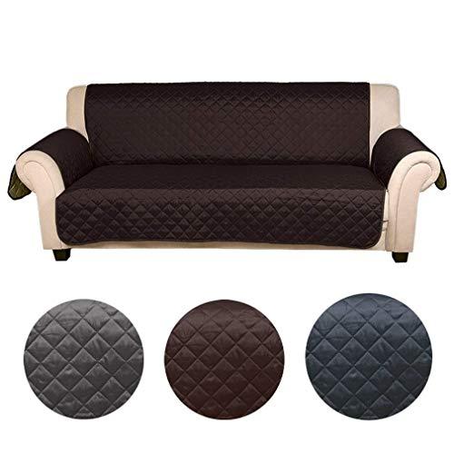 Kinlo copridivano 3 posti impermeabile divano protector mobili coperture su due lati per cani / gatti letto con divano slipcovers 167 * 165cm (cioccolato / beige)