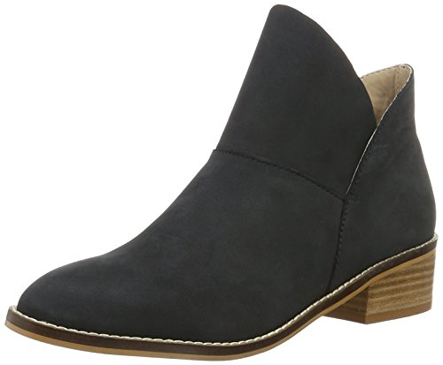 Buffalo London 416-3176 Nubuck Leather, Stivaletti Donna Nero (BLACK 01)