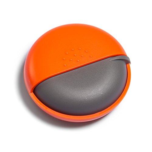 Morepack Pillendose Klein Rund Pillenbox Vitamine Medizin Tablet Organizer Case (Orange)