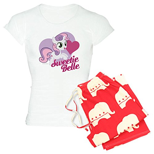 CafePress - My Little Pony Sweetie Bell - Damen-Pyjama-Set, Bequeme Pyjama-Set - Rot - Small (My Pony Little Für Erwachsene Schlafanzug)