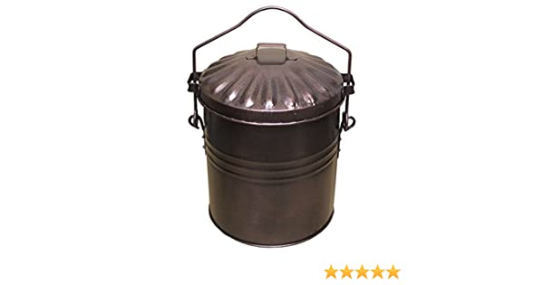 12 Litre strong Galvanised Bucket pail carrying logs coal wood sticks ash L