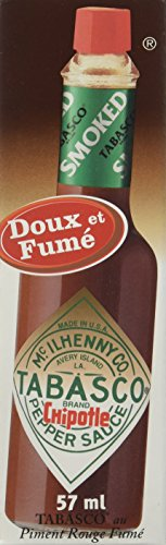 Maille Tabasco Sauce Pimentée Chipotle Goût Fumé 57 ml - Lot de 4