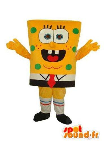 Imagen de mascota spotsound amazon esponja personaje personalizable bob  disfraz de bob de la esponja