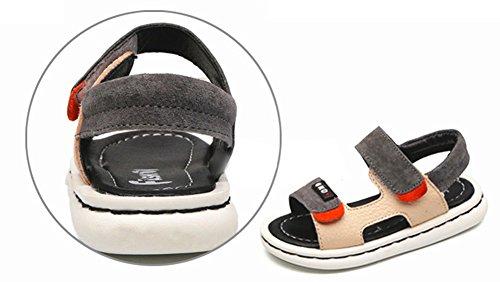 Scothen Plage d'été fermée sandales chaussures de marche en plein air ultra-léger chaussures respirant plat unisexe enfants Garçons Filles Loisirs trekking chaussures de marche/sandales demi Jaune