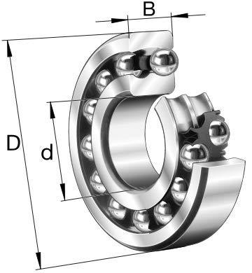 Cuscinetto orientabile a sfere 25x52x15 205-XL-NPP-B FAG