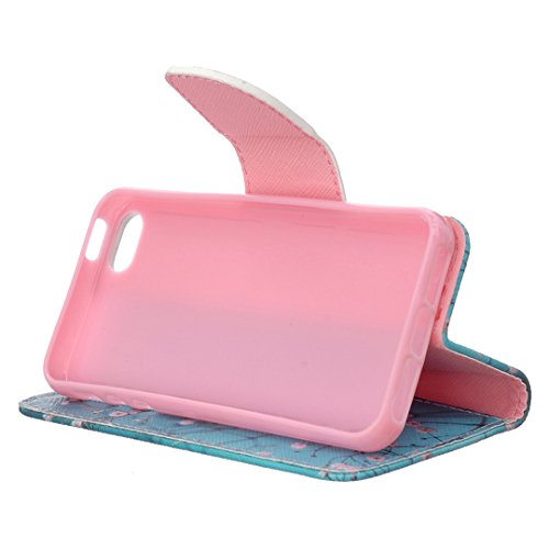 Apple iPhone SE Hülle im Bookstyle, Xf-fly® PU Leder Flip Wallet Case Cover Schutzhülle für Apple iPhone SE/5/5s Tasche Handytasche Schutz Etui Schale Handyhülle P-14