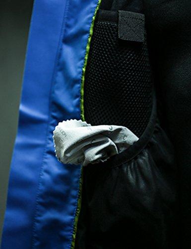 Jeff Green, Giacca impermeabile ideale per escursioni, trekking, outdoor Uomo Harstad Nero (Black)