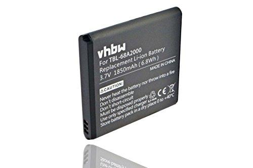 vhbw Li-Ion Akku 1850mAh (3.7V) für WLAN Router, Hotspot TP-Link Portable Mini 150Mbps 3G Mobile, TL-MR11U, TL-MR3040, TL-MR3040 3G wie TBL-68A2000.